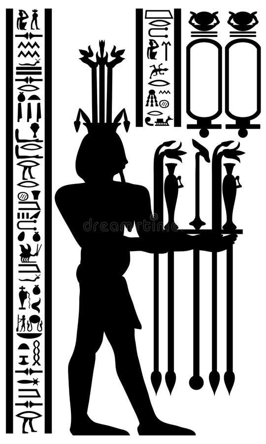 египетские иероглифы фрески бесплатная иллюстрация