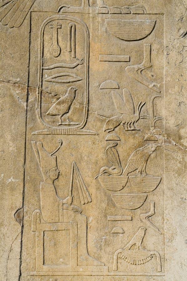 египетские иероглифы стоковое изображение