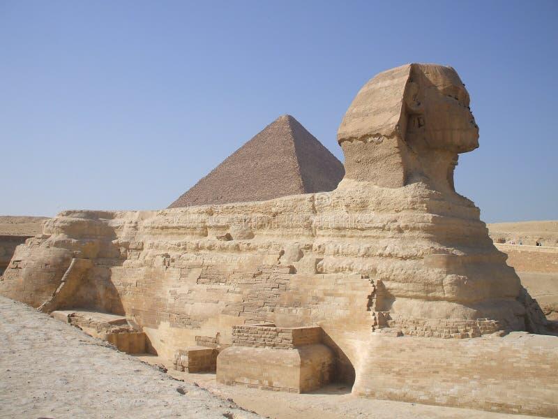 Египетские фото детального описания сфинкса стоковые изображения