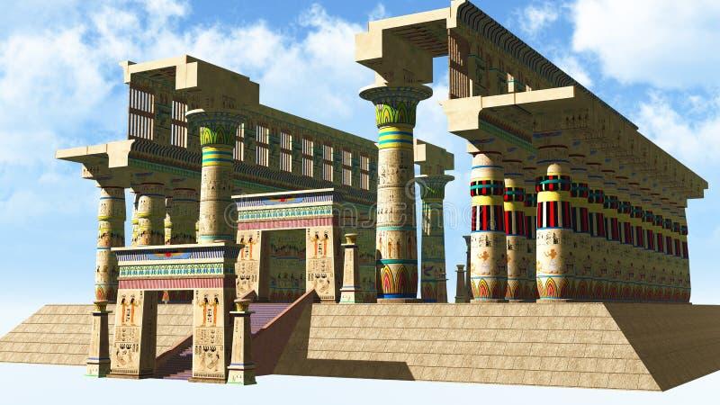 Египетский висок стоковое фото rf