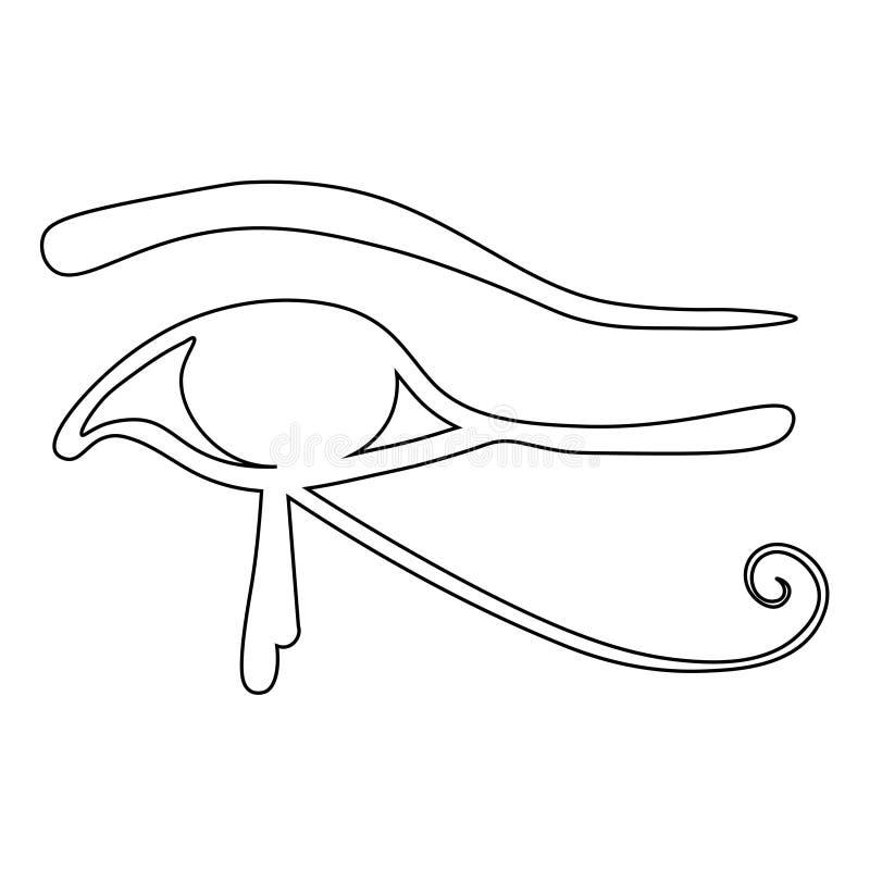 Египетский глаз символа Horus также вектор иллюстрации притяжки corel бесплатная иллюстрация