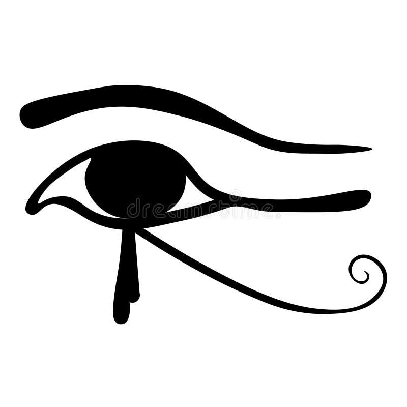 Египетский глаз символа Horus также вектор иллюстрации притяжки corel иллюстрация штока