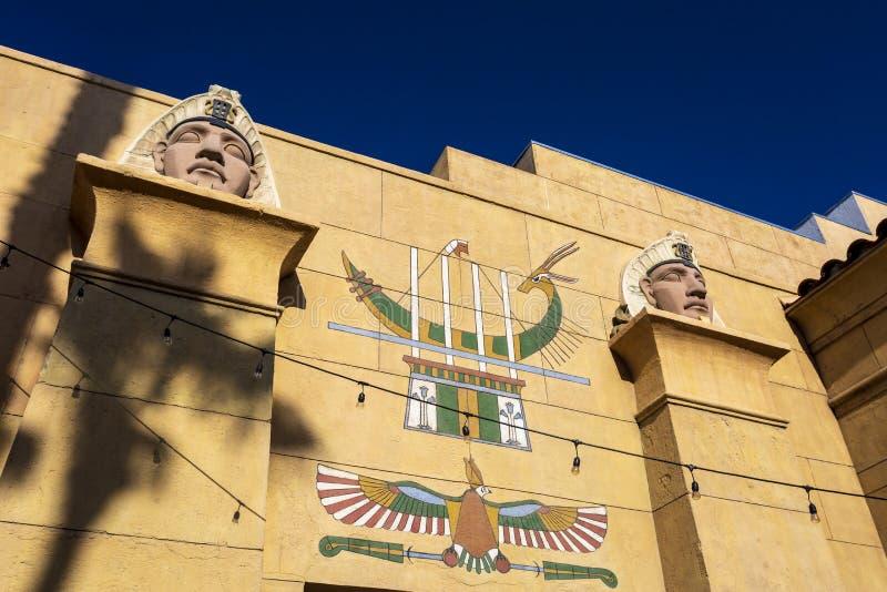 Египетский театр бульвар Голливуд, Голливуд, Голливуд, Лос-Анджелес, Калифорния, Соединенные Штаты Америки, северные стоковые изображения