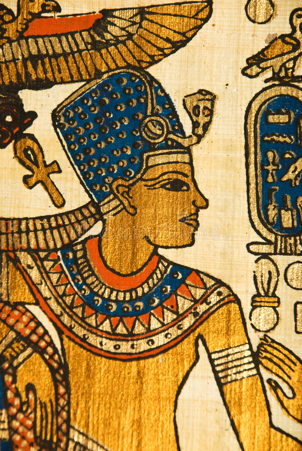 Египетский papyrus истории стоковые изображения rf