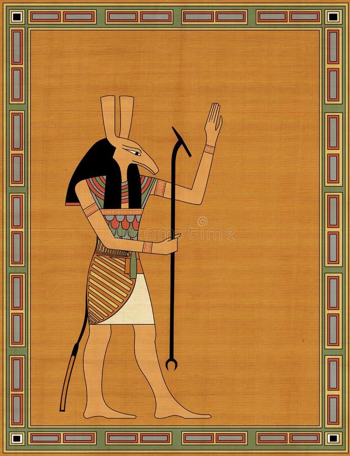 египетское злейшее seth бога иллюстрация вектора