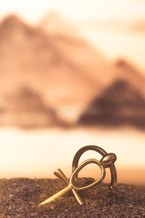 Египетское перекрестное Ankh стоковое фото