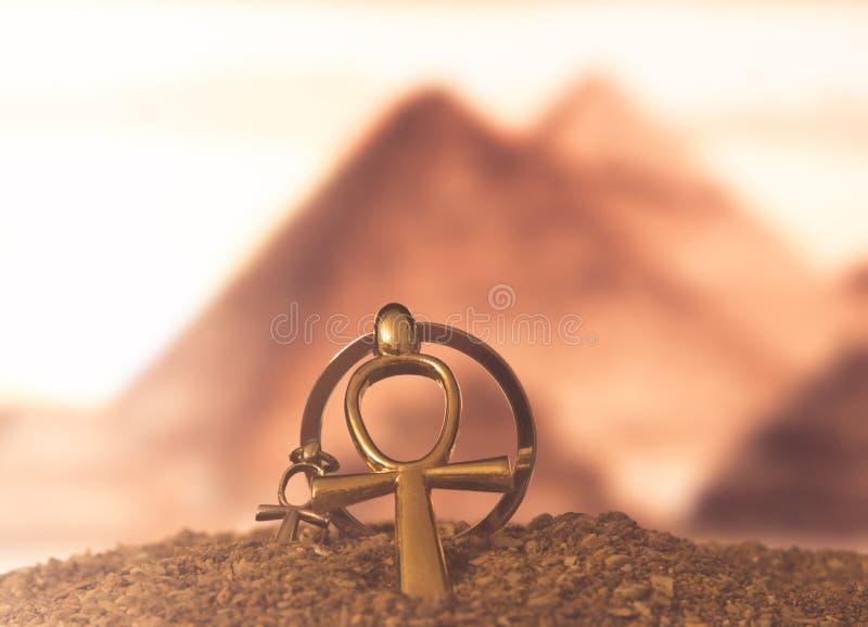 Египетское перекрестное Ankh стоковые фото