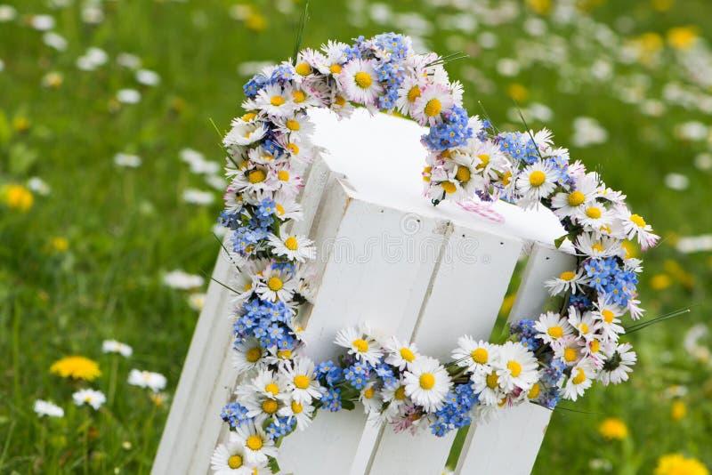 легко редактируйте сердце цветка к стоковые изображения rf
