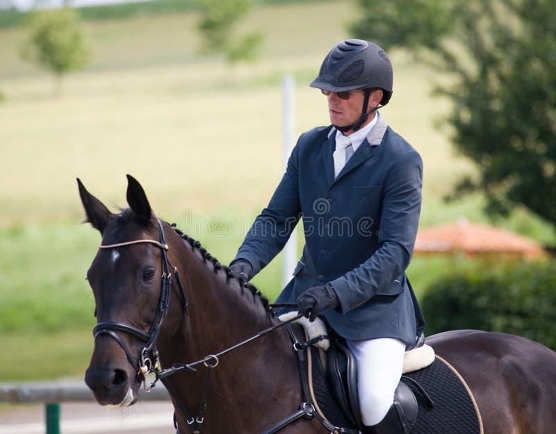 его всадник лошади стоковая фотография rf