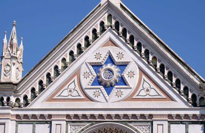 ЕГО знак, базилика Santa Croce di базилики святой перекрестной церков в Флоренсе, Италии стоковая фотография rf