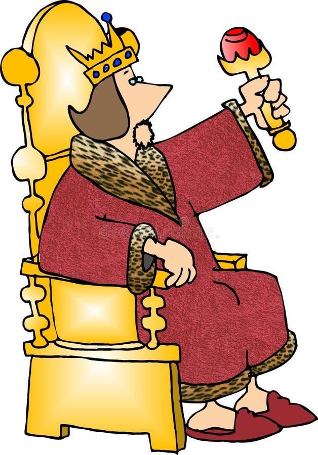 его трон короля иллюстрация вектора