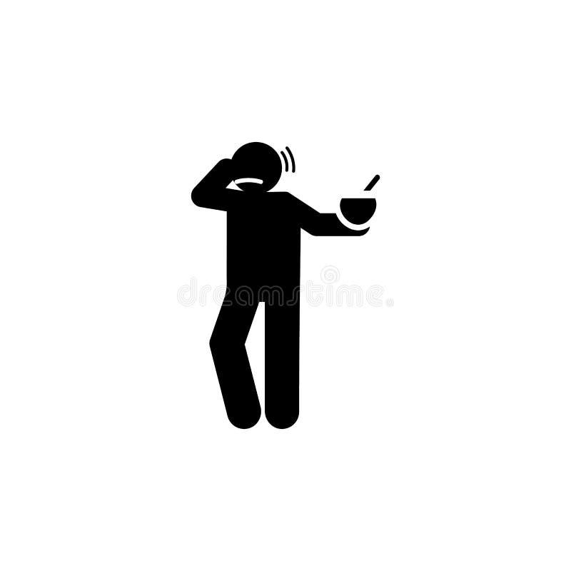 Еда, вкус, плохой, безвкусный значок Элемент отрицательного значка черт характера Наградной качественный значок графического диза иллюстрация вектора