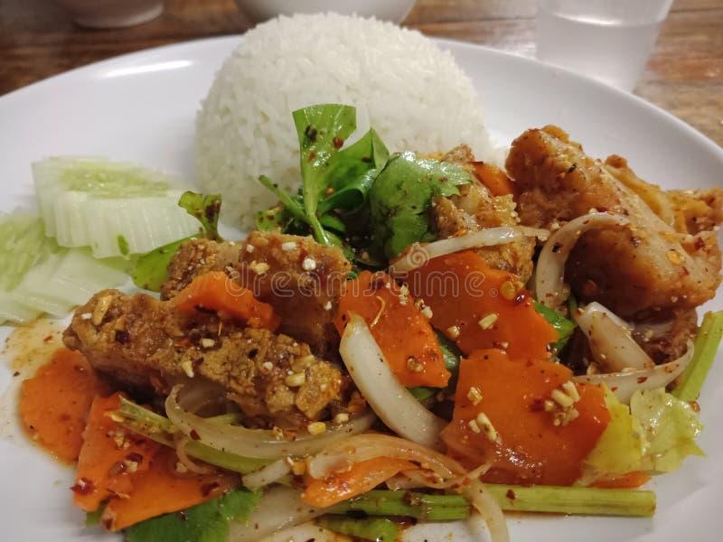 Еда в главном manu стоковое изображение rf