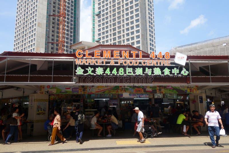 Еда глохнет в центре лоточницы Clementi в Сингапуре стоковые изображения