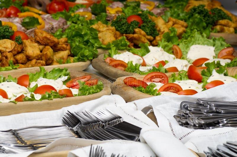 еда доставки с обслуживанием стоковое изображение