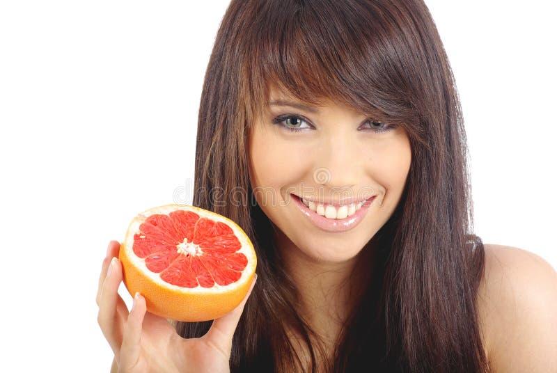 еда женщины fruite стоковое фото