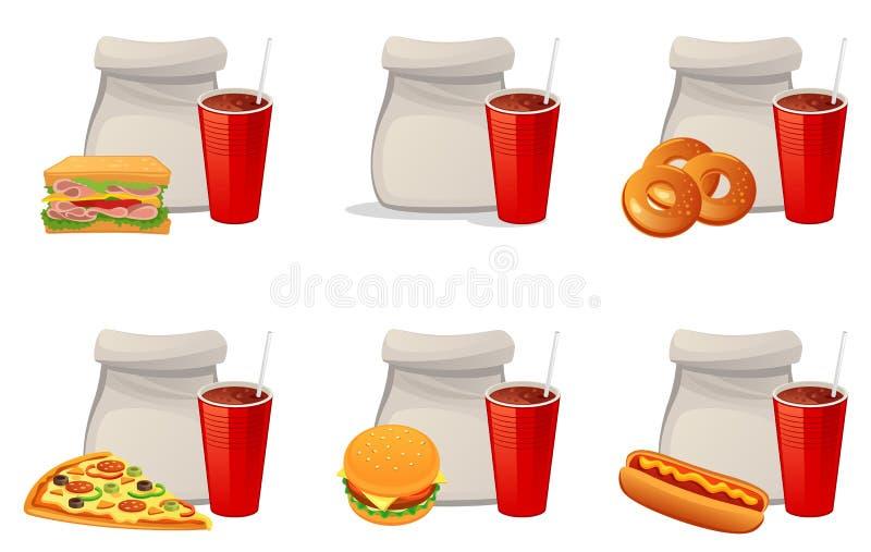Еда из закусочных бесплатная иллюстрация