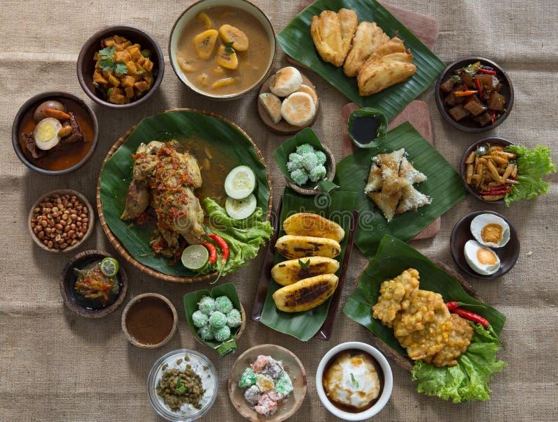 Еда индонезийских или javanese традиционная стоковое изображение