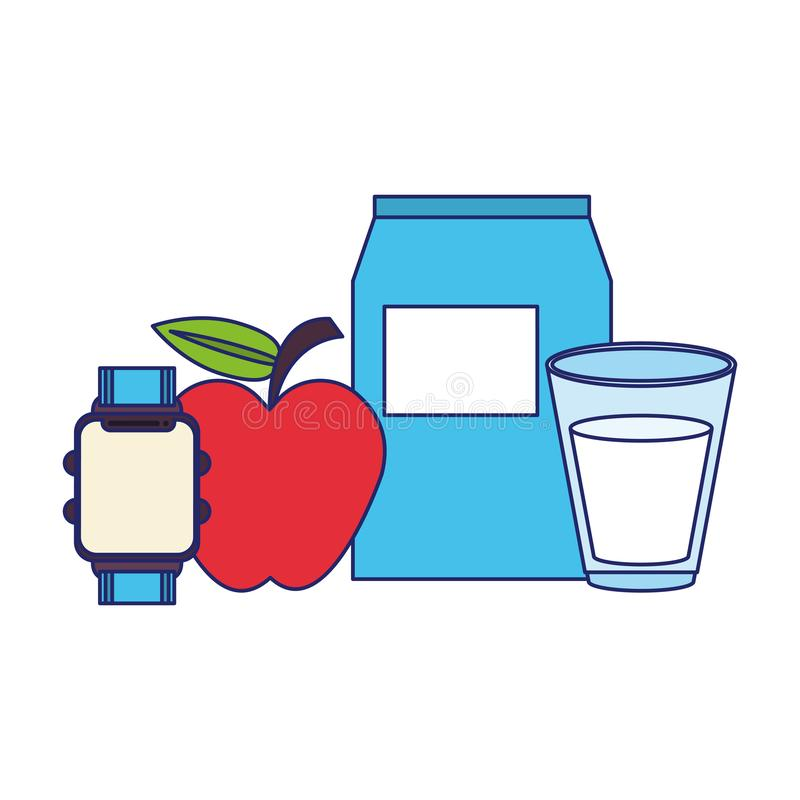 Еда и здоровые символы жизни бесплатная иллюстрация