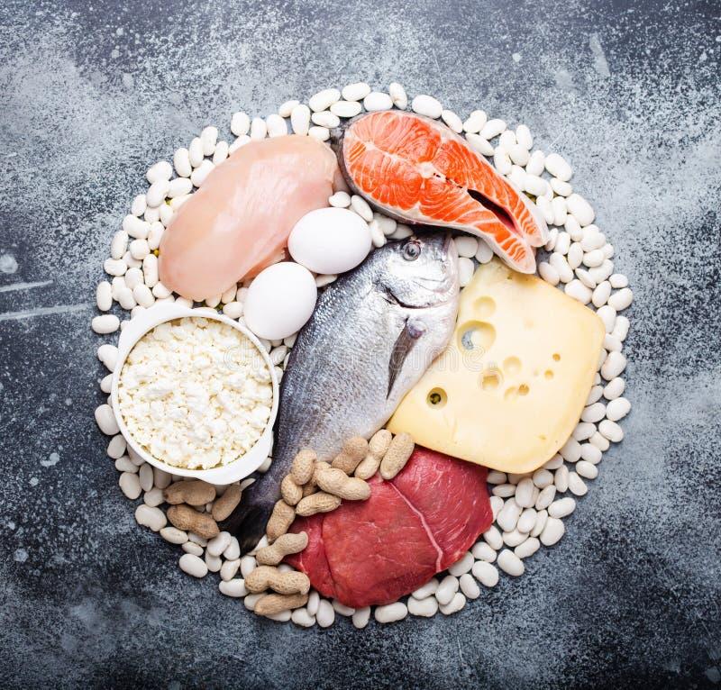 Еда карбюратора диеты Keto низкая стоковая фотография