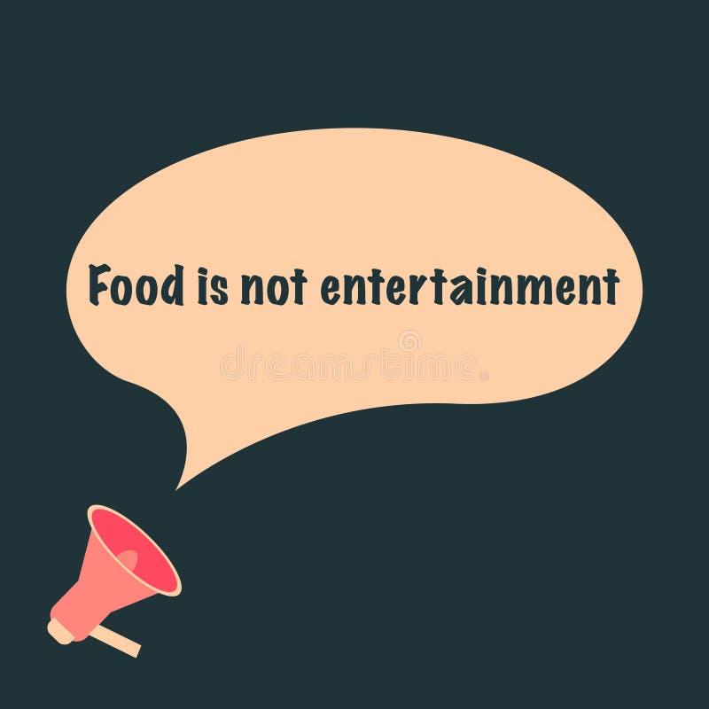 Еда нет текста развлечений на пузыре сообщения иллюстрация вектора