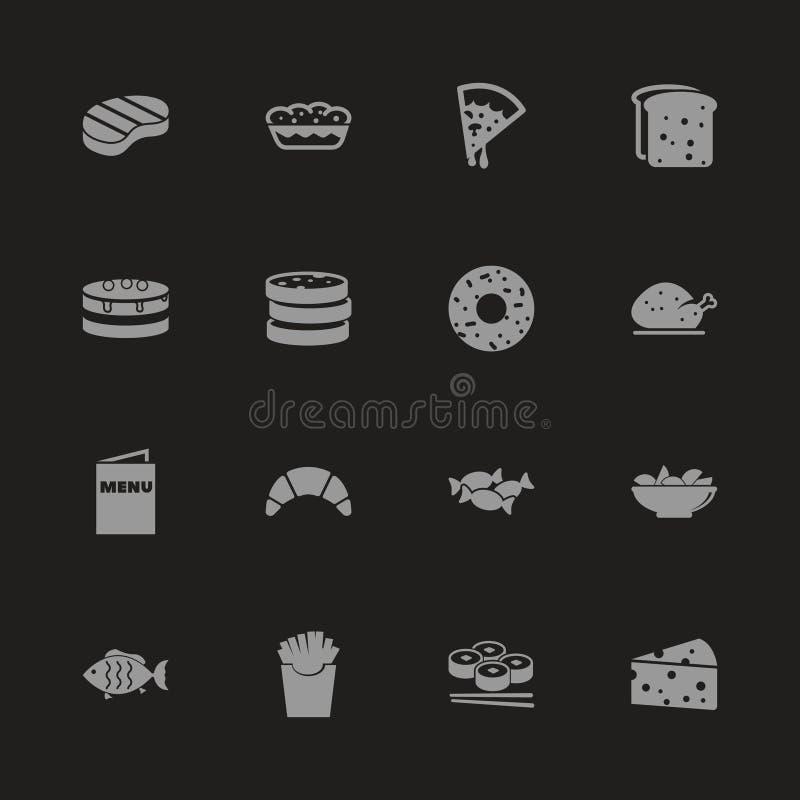 Еда - плоские значки вектора бесплатная иллюстрация