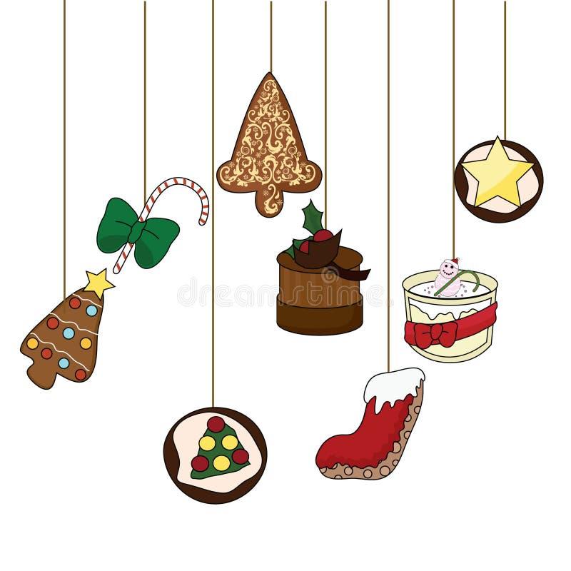 еда рождества предпосылки иллюстрация вектора