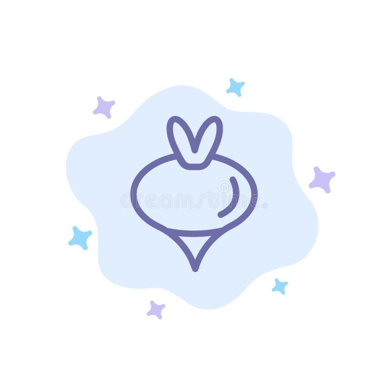 Еда, турнепс, овощ, значок весны голубой на абстрактной предпосылке облака бесплатная иллюстрация
