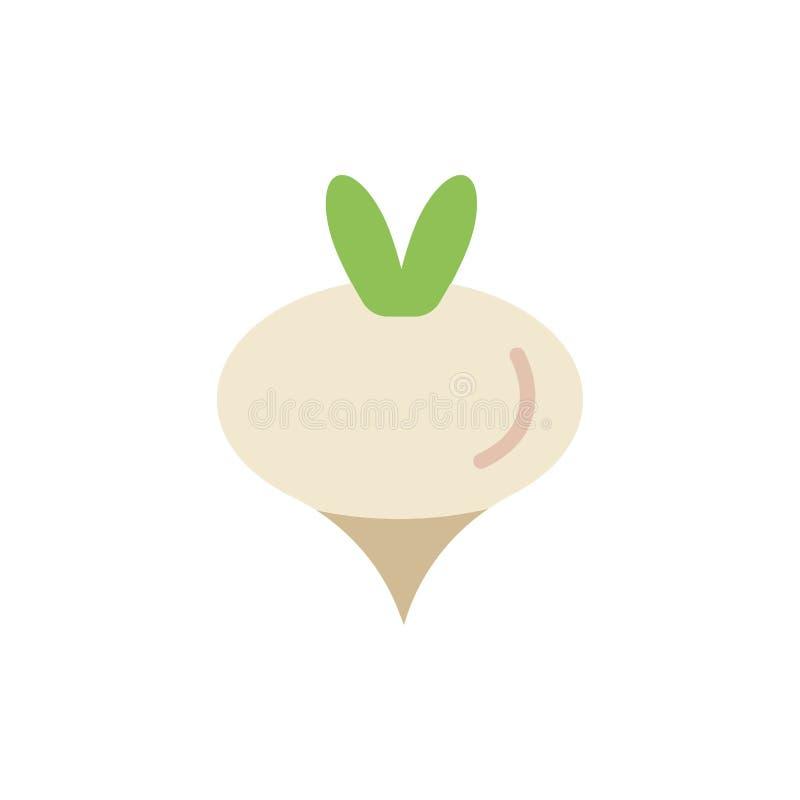 Еда, турнепс, овощ, значок цвета весны плоский Шаблон знамени значка вектора бесплатная иллюстрация