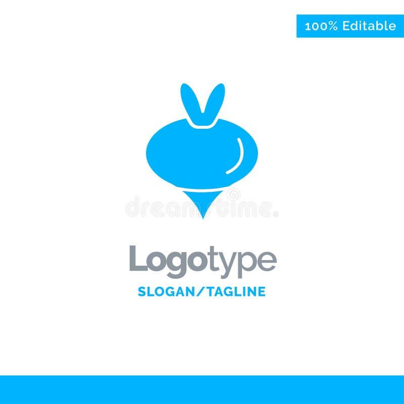 Еда, турнепс, овощ, шаблон логотипа весны голубой твердый r бесплатная иллюстрация