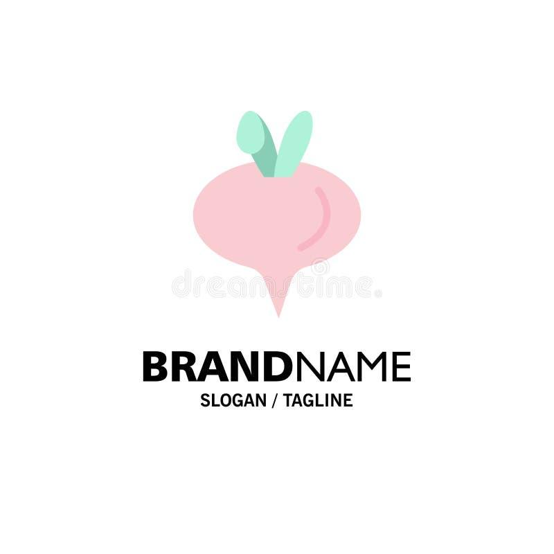 Еда, турнепс, шаблон логотипа дела овоща r иллюстрация штока