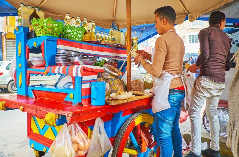 Еда улицы в Александрии, Египте стоковые фотографии rf