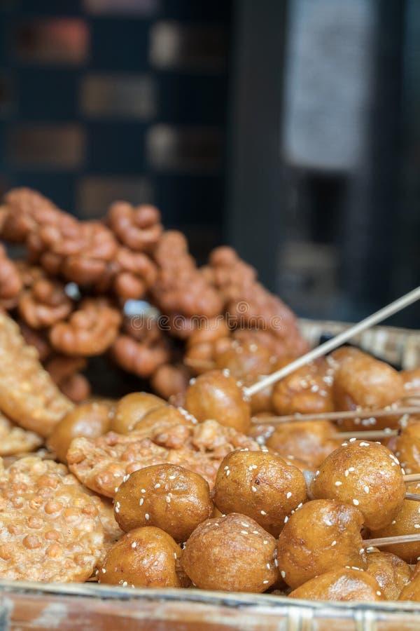 Еда улицы - хлебобулочные изделия стоковое фото