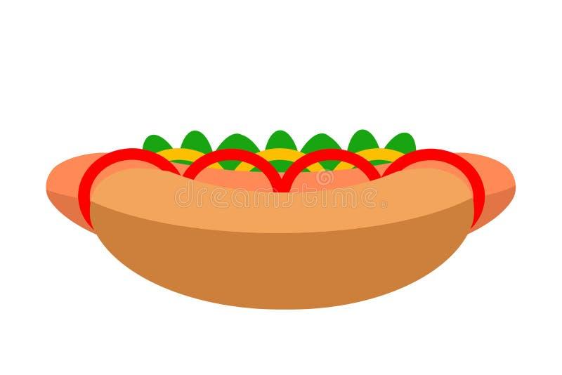 Еда хот-дог икона бесплатная иллюстрация