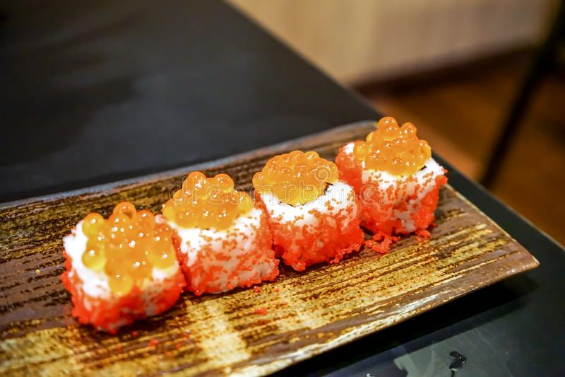 Еда шведского стола японская стоковая фотография
