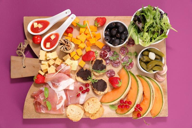 Еда шведского стола стоковая фотография