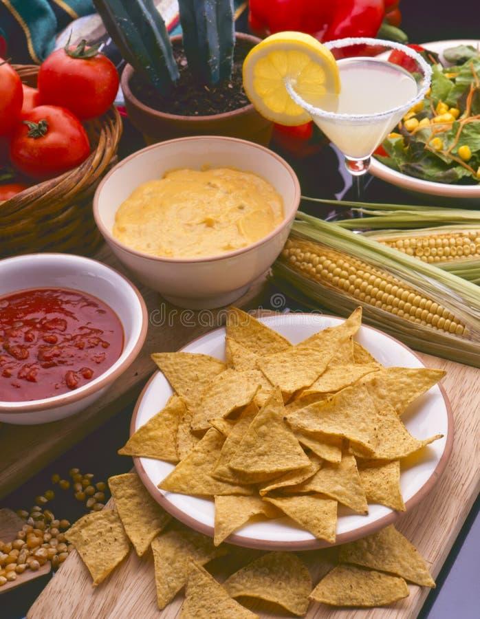 Еда mex Tex Обломоки Tortilla Nachos стоковая фотография