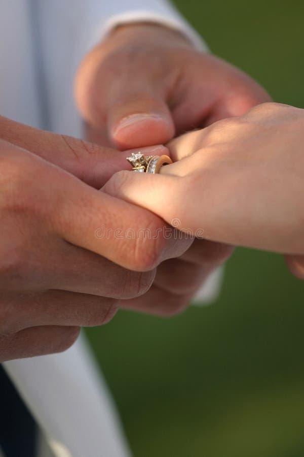 ее венчание кольца стоковое изображение rf