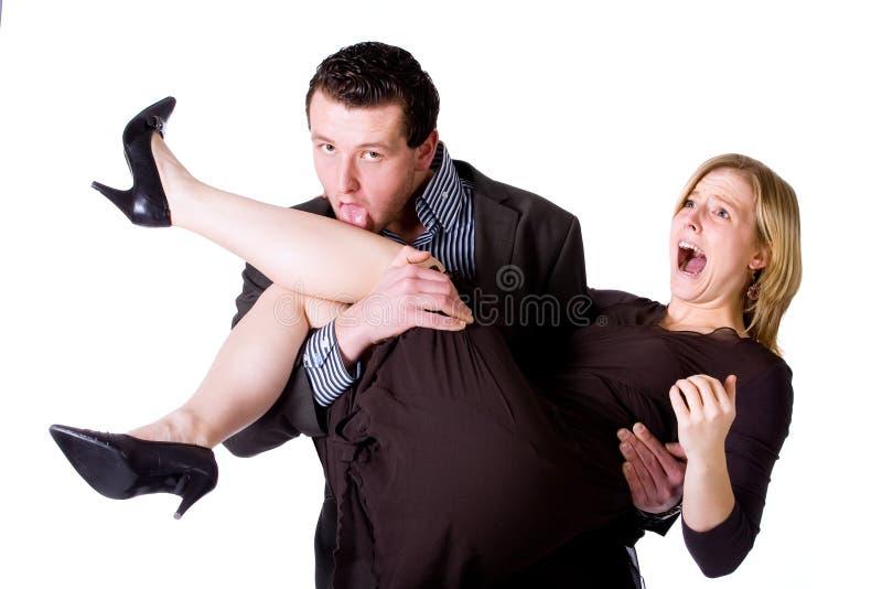 ее лизать ноги стоковая фотография
