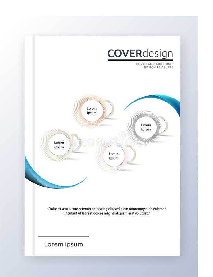 Ежегодный дизайн размера шаблона A4 летчика листовки вектора брошюры, дизайн плана обложки книги годового отчета, абстрактный шаб иллюстрация вектора