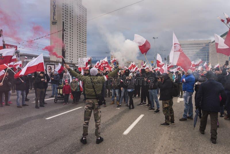Download Ежегодный марш дня 2017 национальной независимости ` S Польши Редакционное Изображение - изображение: 103715330