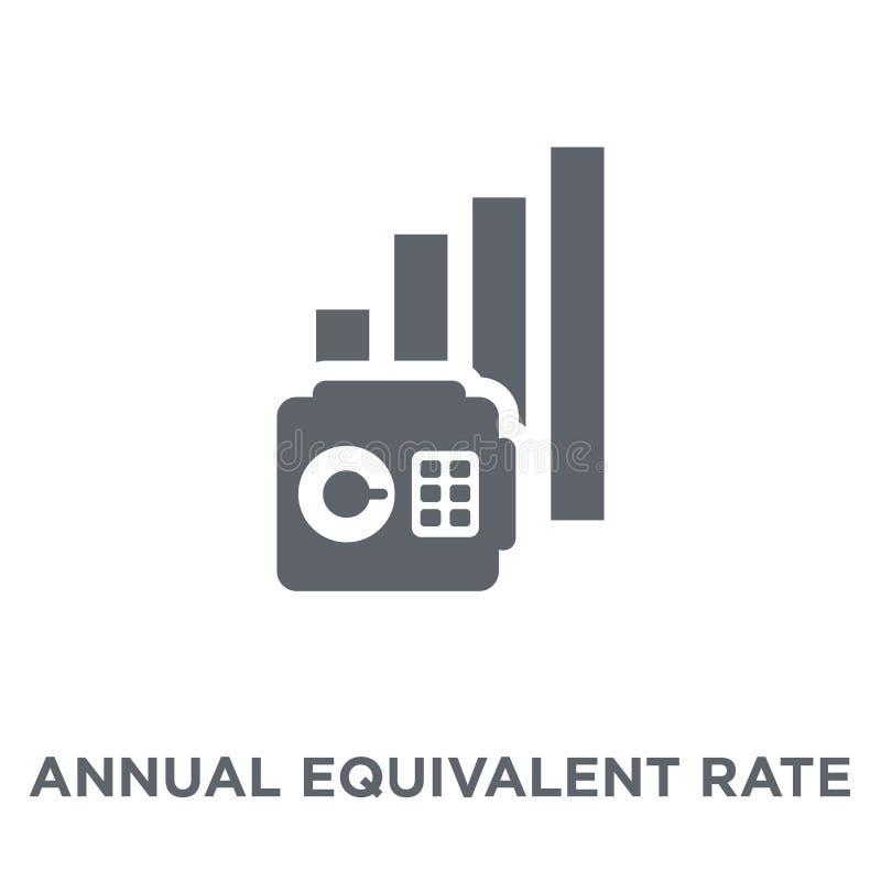 Ежегодный соответствующий значок тарифа (AER) от ежегодного соответствующего тарифа (a бесплатная иллюстрация
