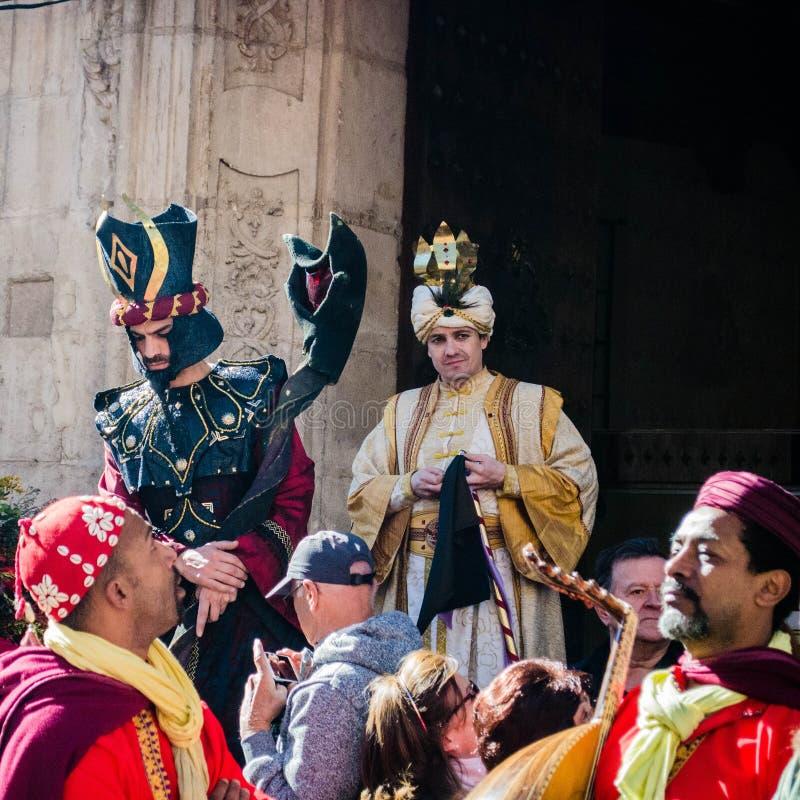 Ежегодный средневековый рынок в Orihuela Испания стоковая фотография