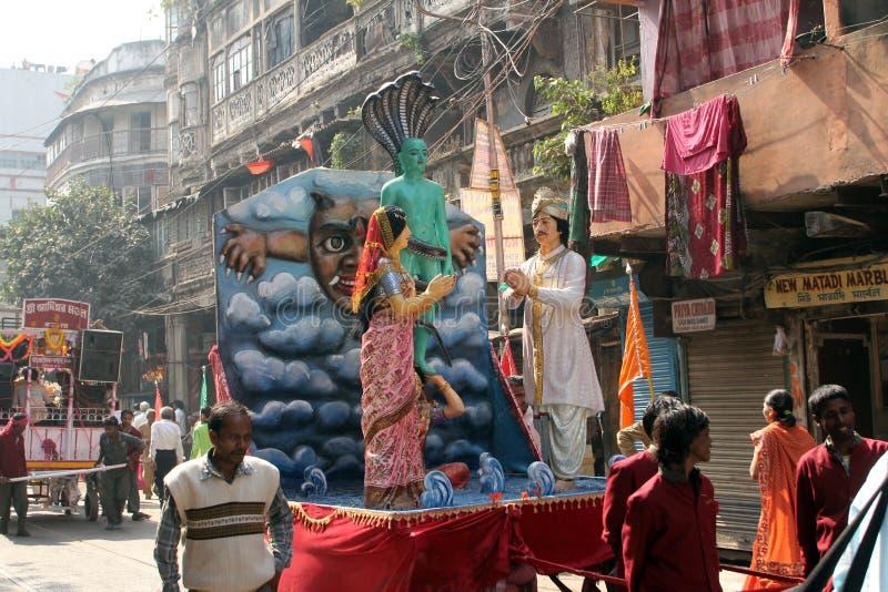Ежегодное Jain шествие Digamber в Kolkata стоковое фото rf