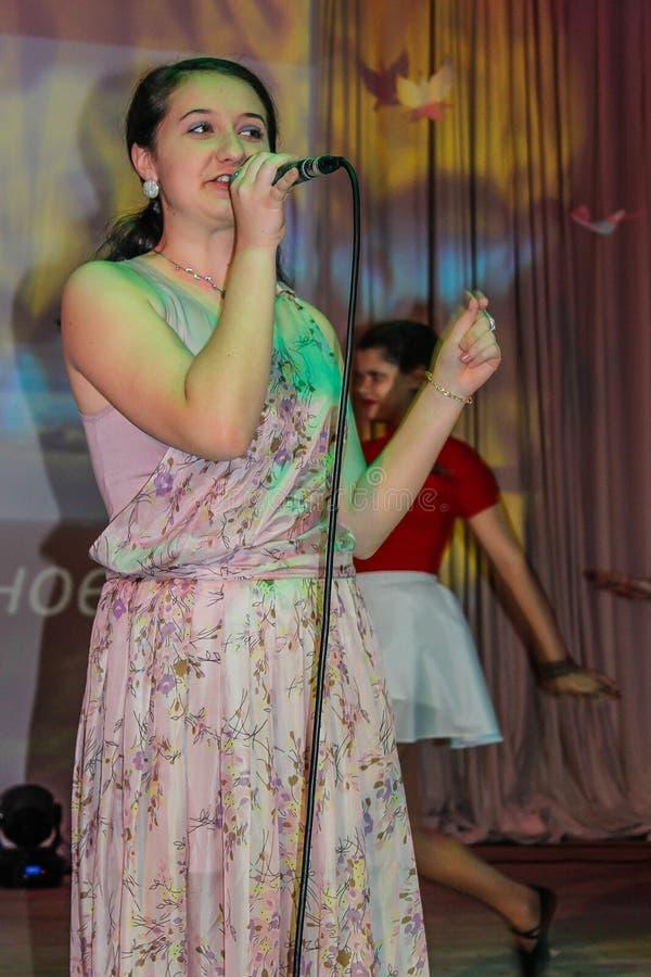 Ежегодный концерт дилетанта в зоне Gomel стоковое изображение rf