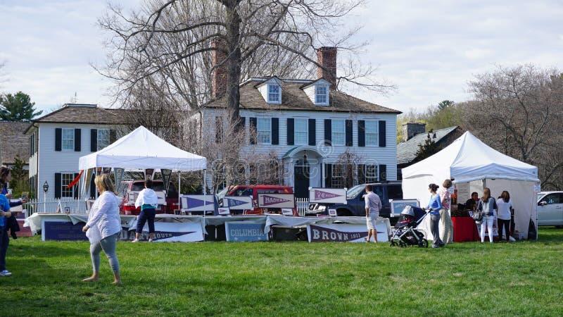 Ежегодный фестиваль кизила в Fairfield, Коннектикуте стоковое фото rf