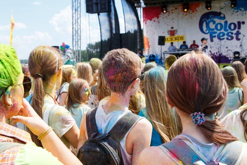 Ежегодный фестиваль цветов ColorFest стоковые изображения