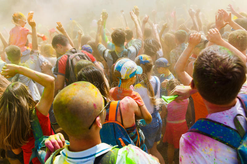 Ежегодный фестиваль цветов ColorFest стоковое изображение