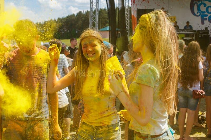 Ежегодный фестиваль цветов ColorFest стоковое фото rf