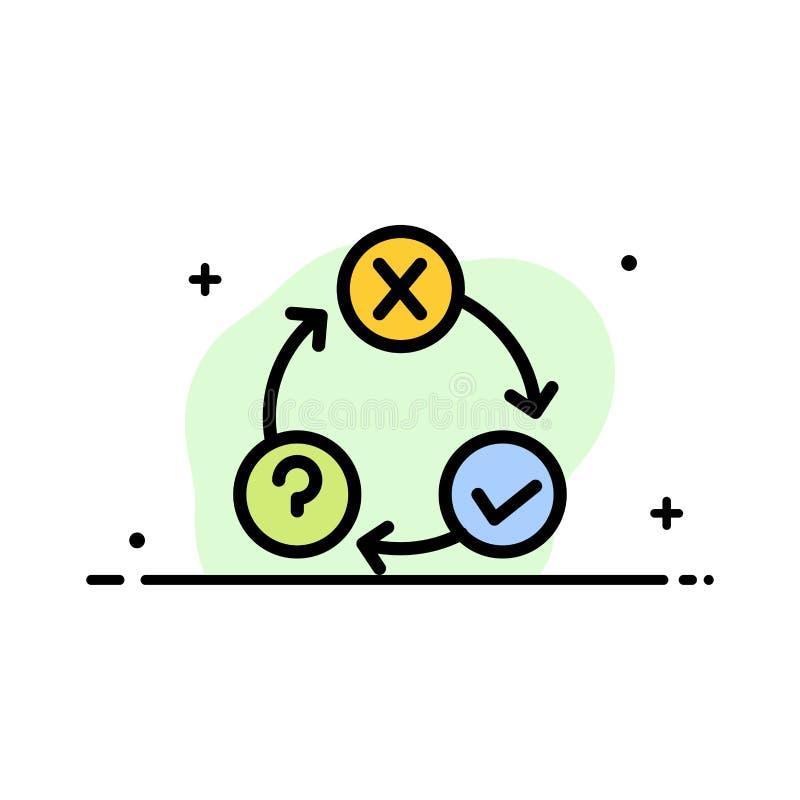 Ежедневно, подача, вопросы, организация, линия дела осуществления плоская заполнила шаблон знамени вектора значка иллюстрация вектора